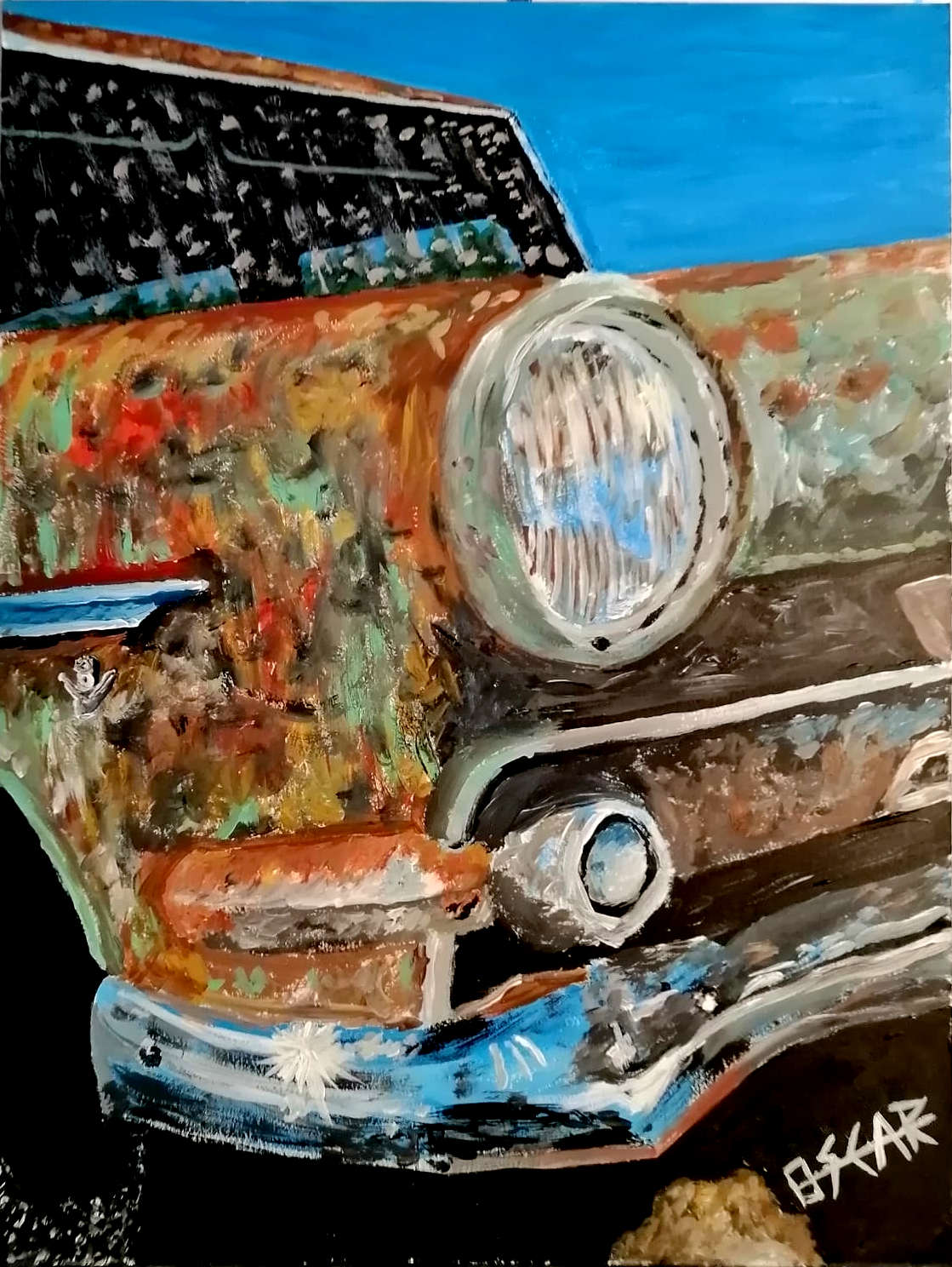 dibujo coche antiguo