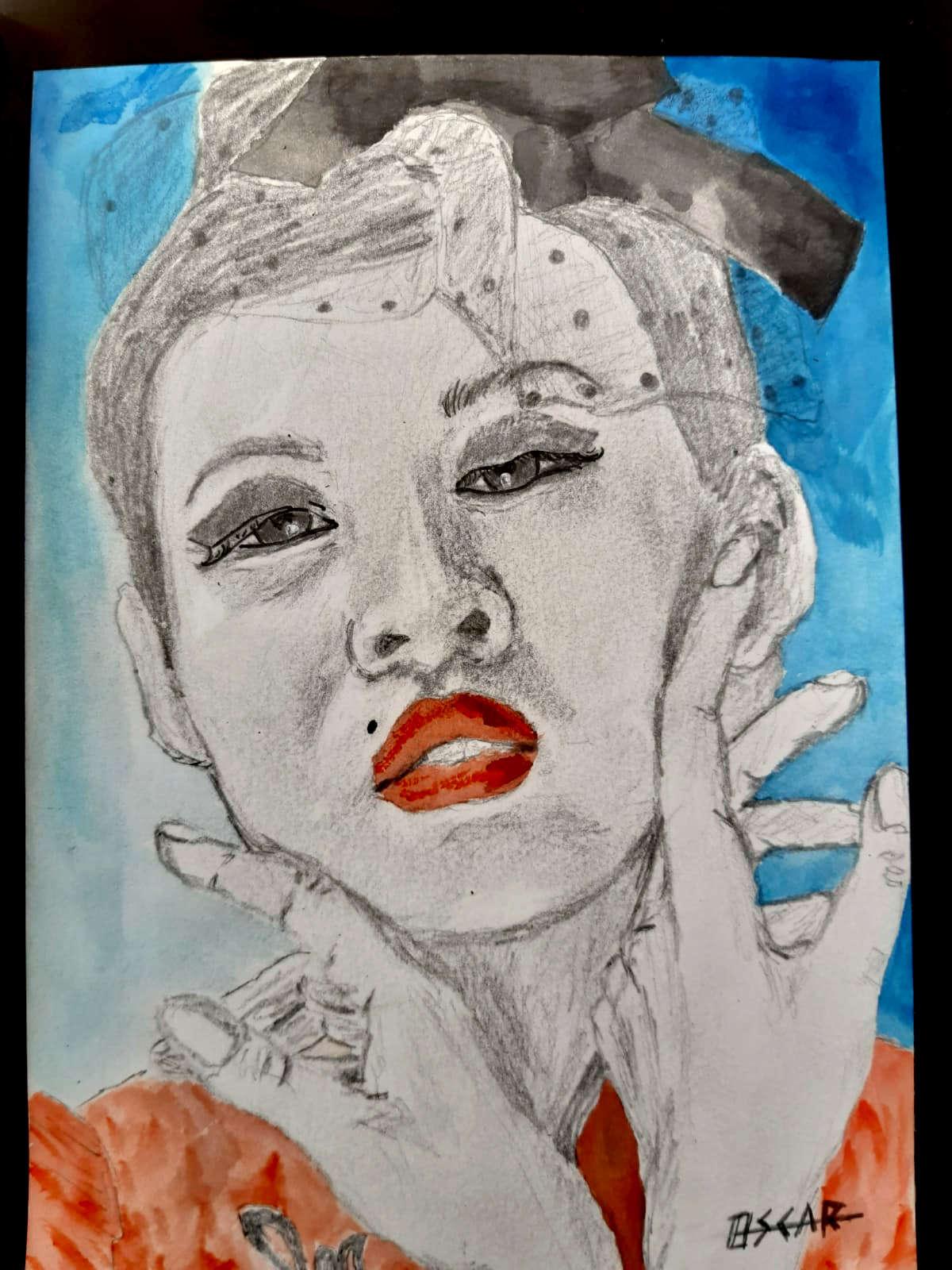 cuadro pintado de chica