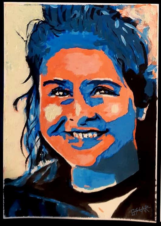 retrato pintado