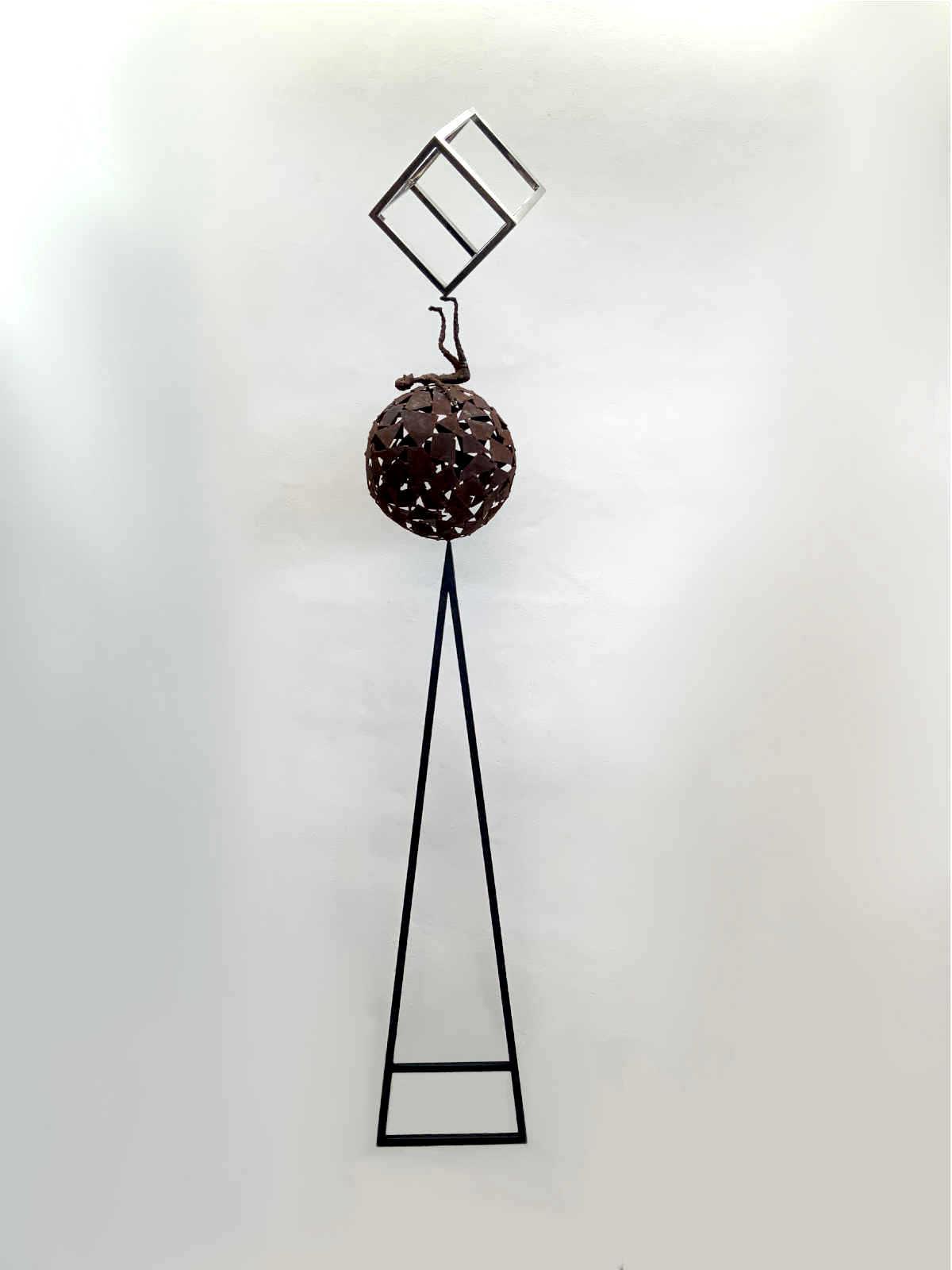 escultura acero corten inoxidable tenerife