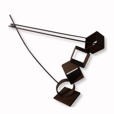 escultura acero corten acrobata tenerife canaria