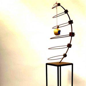 escultura abstracta acero corten tenerife