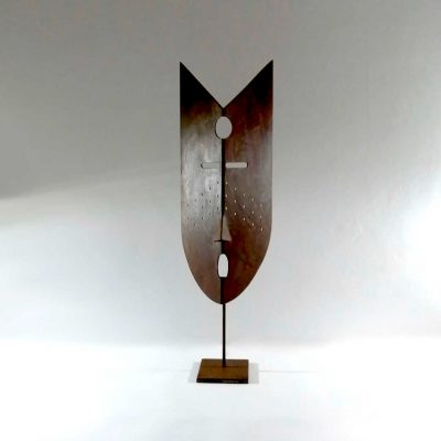 escultura abstracta acero corten