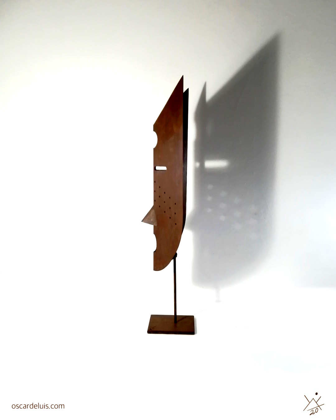 escultura abstracta geométrica acero corten